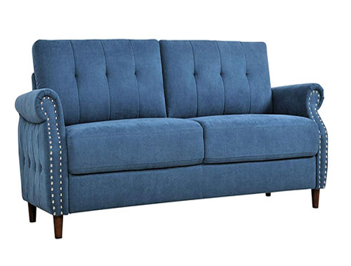 Container Furniture Direct - Briscoe - Midcentury Loveseat - Blue
