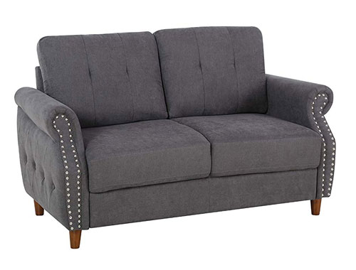 Container Furniture Direct - Briscoe - Midcentury Loveseat - Gray