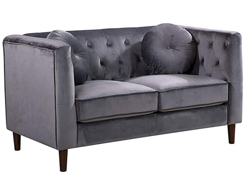 Container Furniture Direct - Kitts (Velvet) - Grey