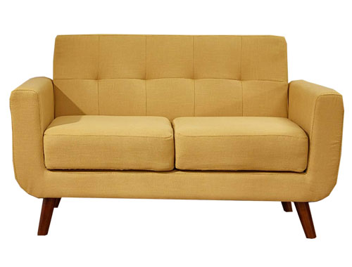 Container Furniture Direct - Rainbeau Loveseat - Yellow