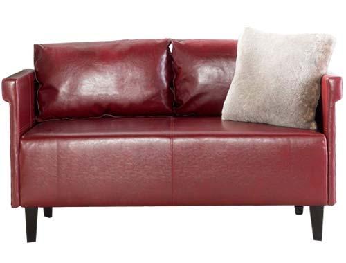 GDF Studio - Harbison Loveseat - Mid-century Sofa - Red
