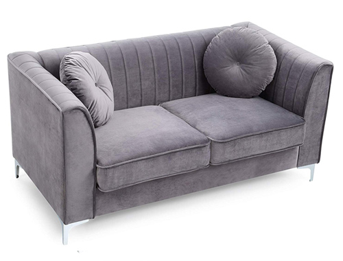 Glory Furniture Delray Loveseat Mid-Century - Gray