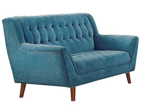 Homelegance Flared Arms Loveseat Mid-Century - Blue