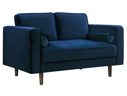Meridian Furniture Emily Loveseat - Blue