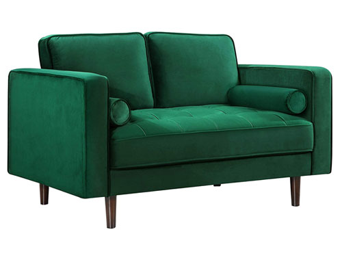 Meridian Furniture Emily Loveseat - Green