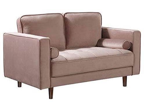Meridian Furniture Emily Loveseat - Pink