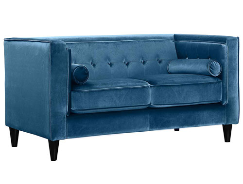 Meridian Furniture - Taylor Mid-Cent 2-Seat Sofa - Blue