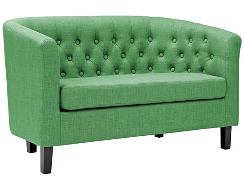 Modway Prospect Loveseat Sofa (Fabric) - Green