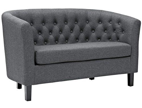 Modway Prospect Loveseat Sofa (Fabric) - Gray