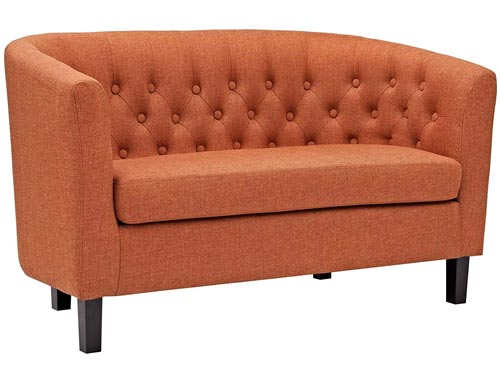 Modway Prospect Loveseat Sofa (Fabric) - Orange