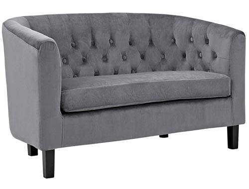 Modway Prospect Loveseat Sofa (Velvet) - Gray