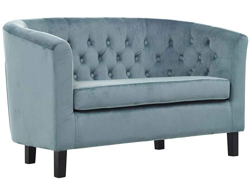 Modway Prospect Loveseat Sofa (Velvet) - Light Blue (Sea)