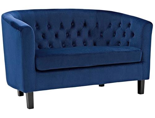 Modway Prospect Loveseat Sofa (Velvet) - Navy Blue