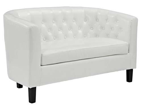 Modway Prospect Loveseat Sofa (Vinyl) - White