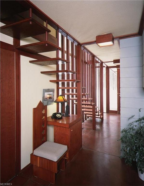 Frank Lloyd Wright S Penfield House Displays Unmistakable Genius   Frank Lloyd Wright Stairs   Basement   Dorm   Design   Obras   Floor Plan