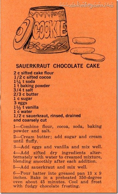 Sauerkraut Chocolate Cake001