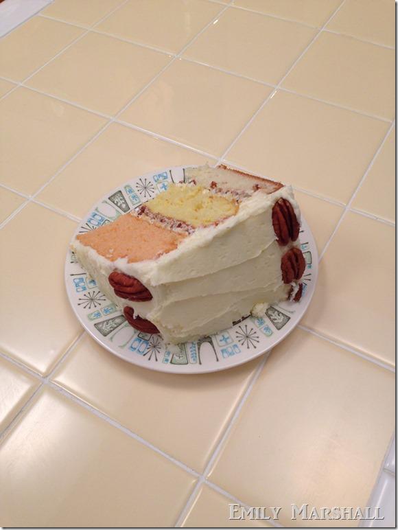 3 layer cake slice