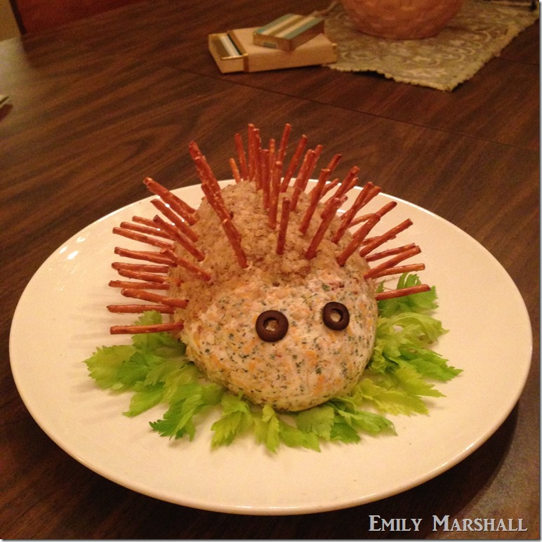 cheese porcupine