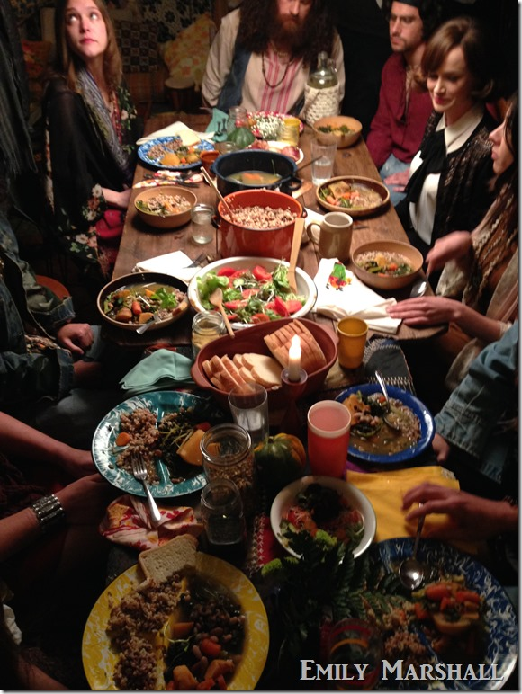 hippie dinner