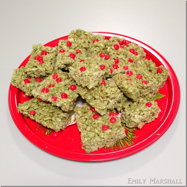 holly berry rice crispies