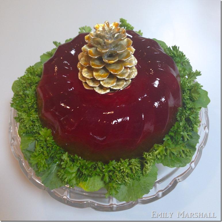 ombre jello salad wreath