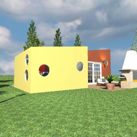 Ronnie's Tiny House Side View