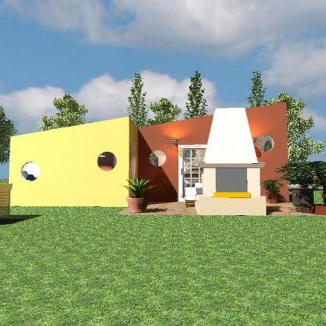 Ronnie's Tiny House Side Patio