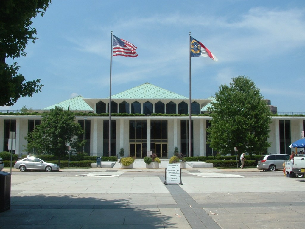 North Carolina State Legislative Building in Raleigh, North Carolina, 1960.