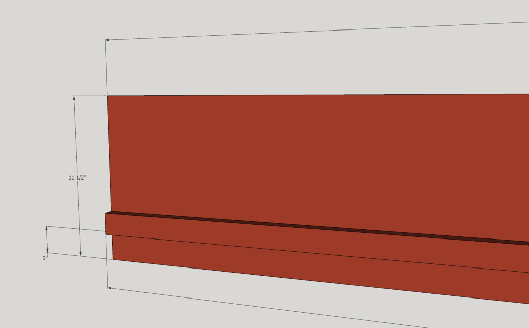 The Vertical Support Piece Dimensions.