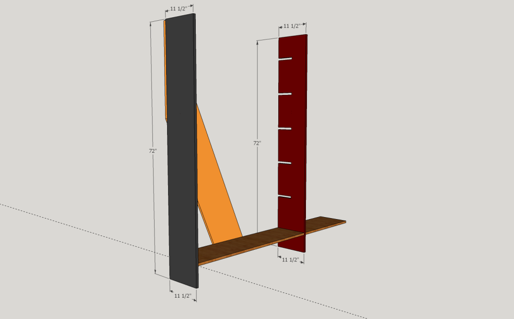The Two Upright Support Pieces.