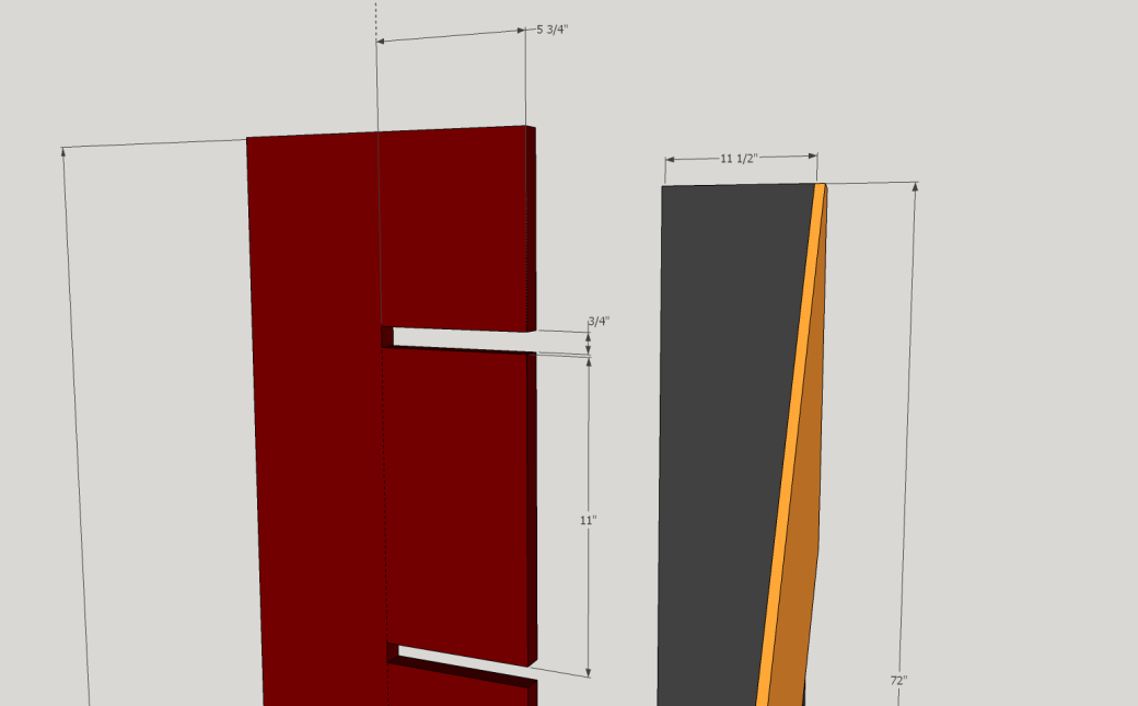 Placement of the Notches on the Upright.
