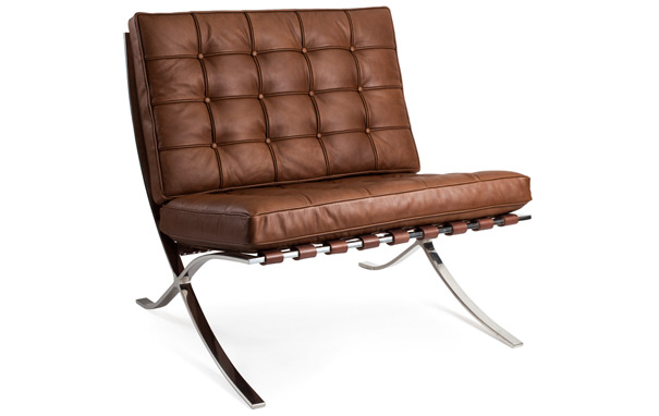 The Barcelona Chair by Ludwig Mies van der Rohe.