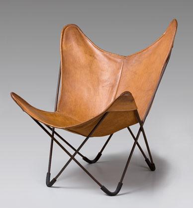 The BKF or Butterfly Chair by Antonio Bonet, Juan Kurchan and Jorge Ferrari Hardoy.