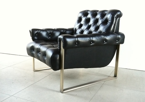 Tufted Lounge Chair.