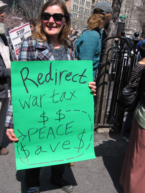 Redirect War Taxes . . . Peace Saves
