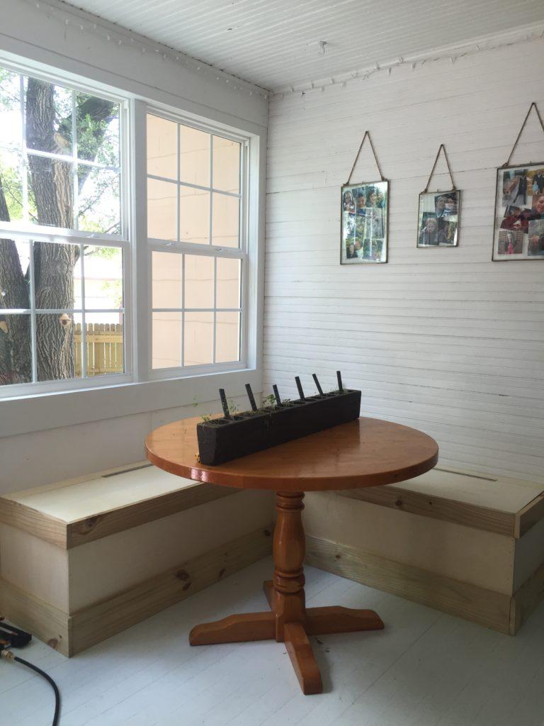 Sunroom Shines: DIY Breakfast Nook Benches