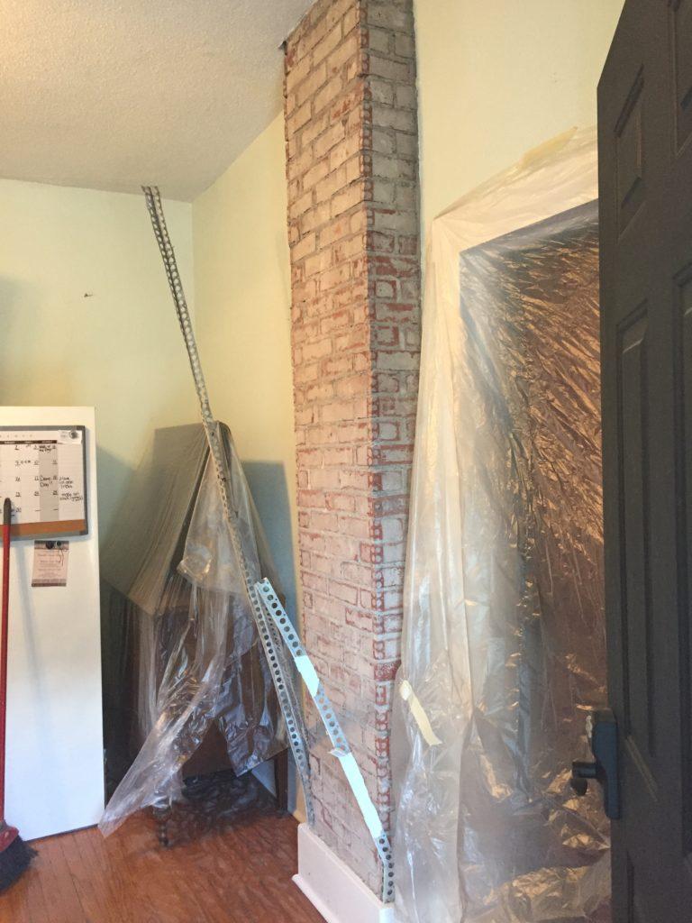 Exposing and Whitewashing a Brick Chimney