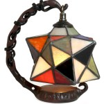 Hanging Star Tiffany Style Table Lamp Free Bulb