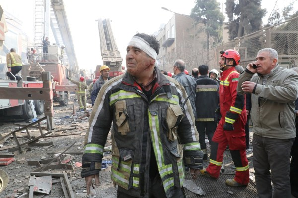 Tehran high-rise collapse: fires hinder search for ...