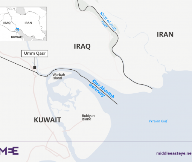 It Acts As A River Boundary Separating Iraq And Iran Much Like Khor Abdullah Separates Iraq And Kuwait