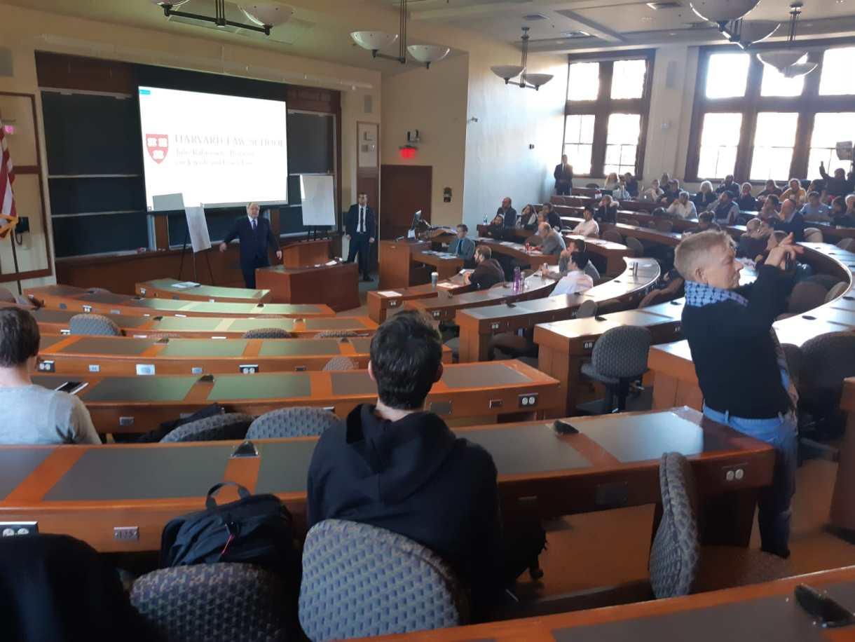 Harvard talk walkout
