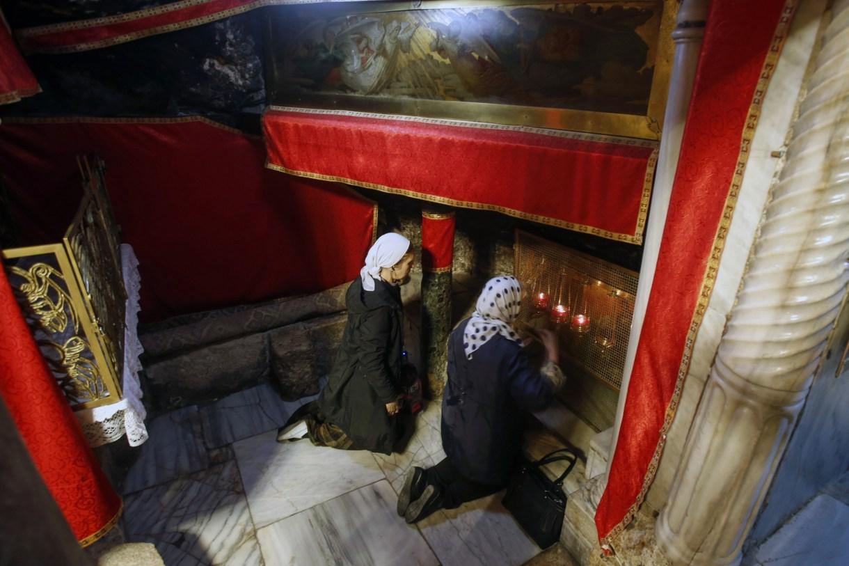 Worshipers in Bethlehem
