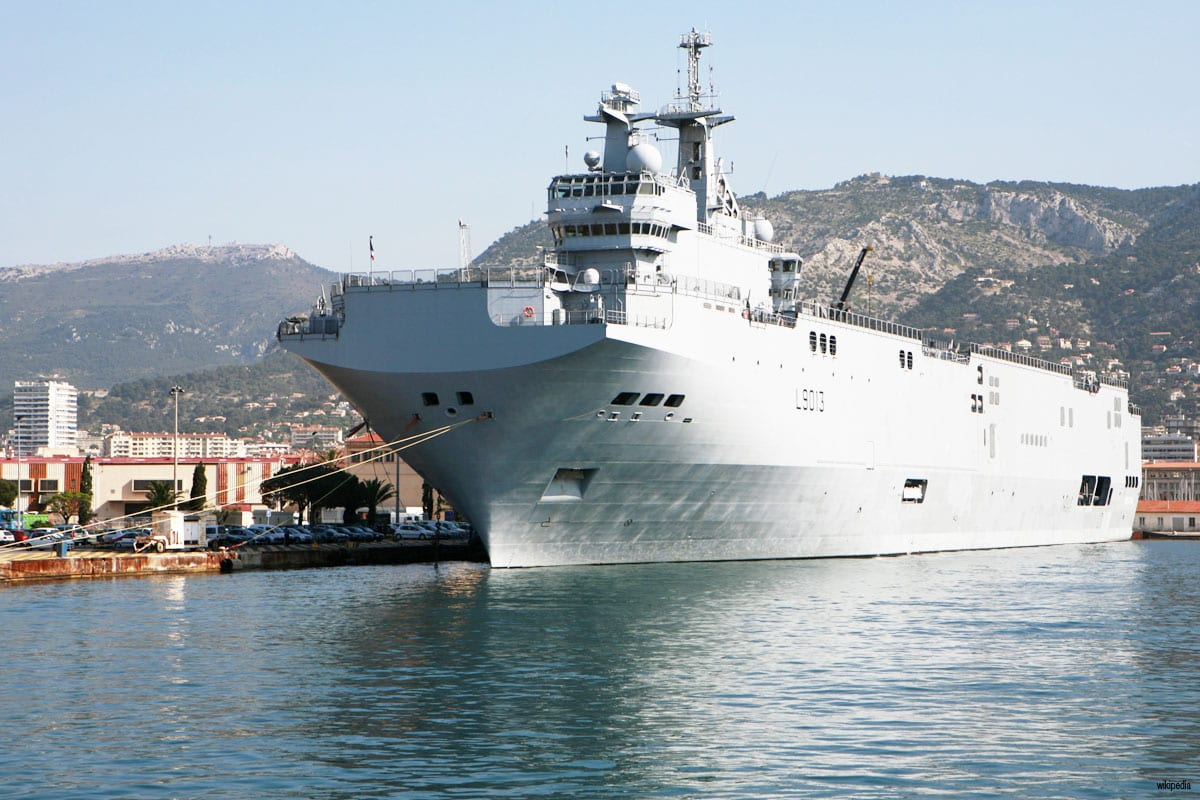 French Mistral-class helicopter carriers