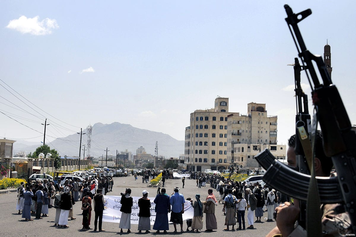 Houthi Movement members in Sanaa, Yemen [Anadolu]