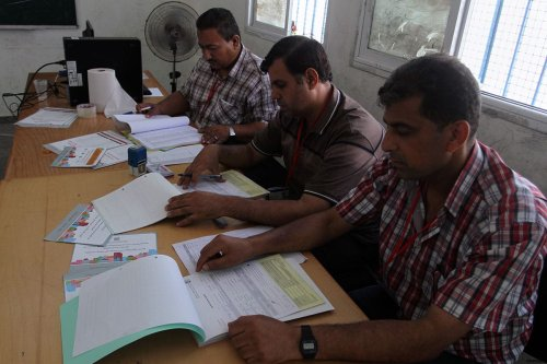 Image of a voting registering centre in Rafah in the southern Gaza strip [apaimages]