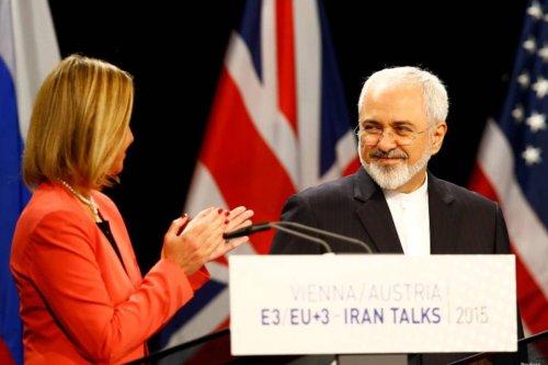 Federica Mogherini and Mohammad Javad Zarif