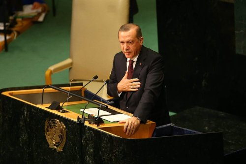 Turkish President Recep Tayyip Erdogan delivers a speech at the UN General Assembly Headquarters on September 20th 2016 [Kayhan Özer /Anadolu Agency]