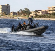 BEHEIRA, EGYPT - SEPTEMBER 27: Egyptian security forces and health workers carry out a search operations for migrants who lost after a boat submerged, at Port Rashid in Beheira, Egypt on September 27, 2016. Migrants' boat submerged on its way to Europe at the Mediterranean Sea.  ( İbrahim Ramadan - Anadolu Agency )