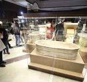 BASRA, IRAQ - SEPTEMBER 27: People visit the Basra Civilization Museum, which displays pieces dating from around 300 B.C., during its opening ceremony in Basra, Iraq on September 27, 2016.  ( Haider el-Asadi - Anadolu Agency )