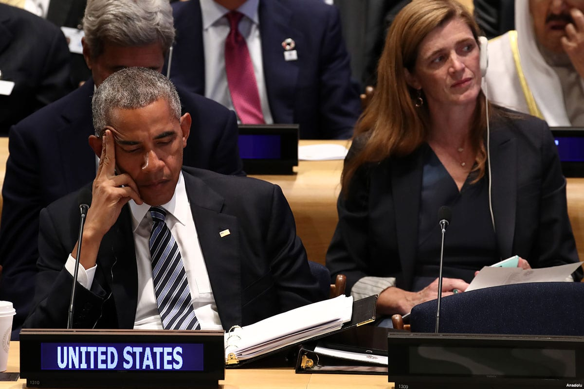 US President Barack Obama is seen during the Leaders' Summit at the United Nations headquarters in New York on September 20, 2016 [Bilgin S. Şaşmaz/Anadolu]